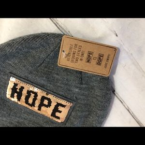 Dope or Nope beanie , cap grey. Adorable!
